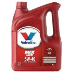 VALVOLINE MAXLIFE SYNTHETIC 5W40  4 LT
